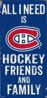 """Montreal Canadiens 6"""" x 12"""" Friends & Family Sign"""