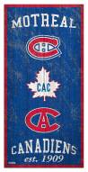 """Montreal Canadiens 6"""" x 12"""" Heritage Sign"""