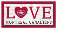 """Montreal Canadiens 6"""" x 12"""" Love Sign"""