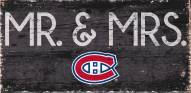 """Montreal Canadiens 6"""" x 12"""" Mr. & Mrs. Sign"""