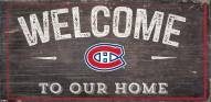 """Montreal Canadiens 6"""" x 12"""" Welcome Sign"""