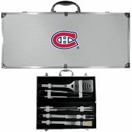 Montreal Canadiens 8 Piece Stainless Steel BBQ Set w/Metal Case