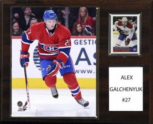"Montreal Canadiens Alex Galchenyuk 12"" x 15"" Player Plaque"