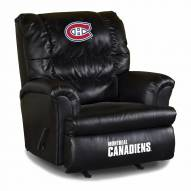 Montreal Canadiens Big Daddy Leather Recliner