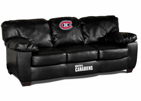 Montreal Canadiens Black Leather Classic Sofa