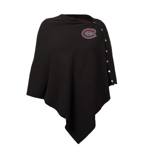Montreal Canadiens Black Out Button Poncho