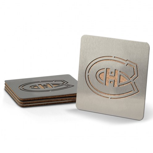 Montreal Canadiens Boasters Stainless Steel Coasters - Set of 4