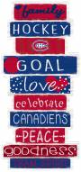 Montreal Canadiens Celebrations Stack Sign