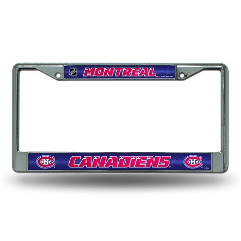 Montreal Canadiens Chrome Glitter License Plate Frame