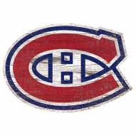 Montreal Canadiens Distressed Logo Cutout Sign