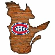 Montreal Canadiens Distressed State with Logo Sign