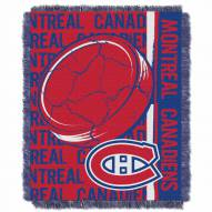 Montreal Canadiens Double Play Woven Throw Blanket