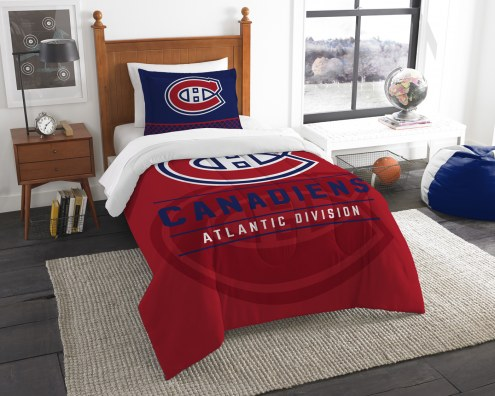 Montreal Canadiens Draft Twin Comforter Set