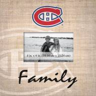 Montreal Canadiens Family Picture Frame