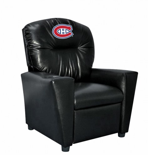 Montreal Canadiens Faux Leather Kid's Recliner