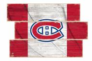 Montreal Canadiens Flag 3 Plank Sign
