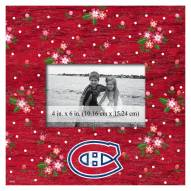 """Montreal Canadiens Floral 10"""" x 10"""" Picture Frame"""