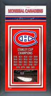 Montreal Canadiens Framed Championship Print