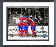 Montreal Canadiens Goal Celebration Spotlight Framed Photo