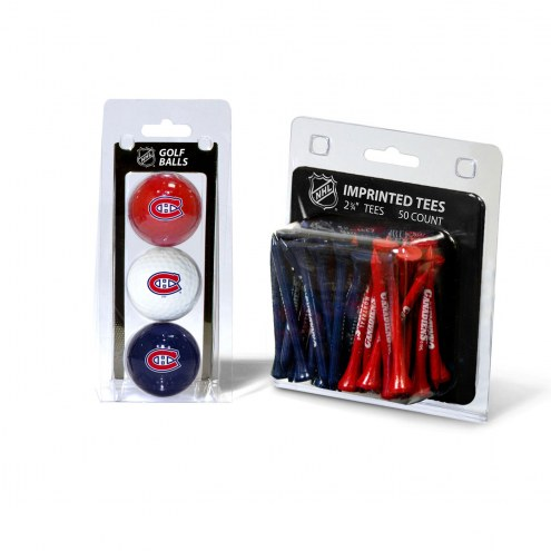 Montreal Canadiens Golf Ball & Tee Pack