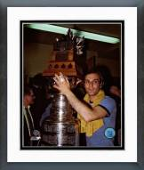 Montreal Canadiens Guy Lafleur Stanley Cup & Conn Smythe Trophies Framed Photo