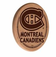 Montreal Canadiens Laser Engraved Wood Sign