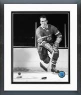 Montreal Canadiens Henri Richard Action B&W Framed Photo