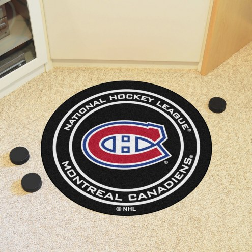 Montreal Canadiens Hockey Puck Mat