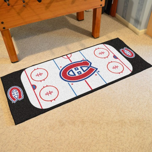 Montreal Canadiens Hockey Rink Runner Mat