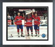 Montreal Canadiens Holding Stanley Cup Framed Photo