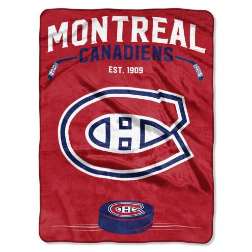 Montreal Canadiens Inspired Plush Raschel Blanket