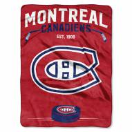Montreal Canadiens Inspired Plush Raschel Blanket
