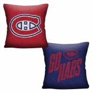 Montreal Canadiens Invert Woven Pillow