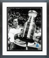 Montreal Canadiens Jean Beliveau with the Stanley Cup Framed Photo