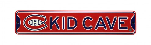 Montreal Canadiens Kid Cave Street Sign