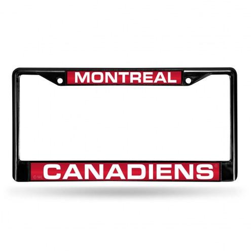 Montreal Canadiens Laser Black License Plate Frame