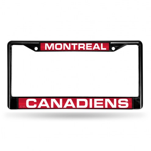 Montreal Canadiens Laser Black License Plate Frame
