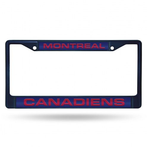 Montreal Canadiens Laser Colored Chrome License Plate Frame