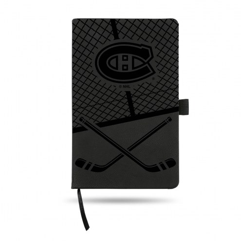 Montreal Canadiens Laser Engraved Black Notepad