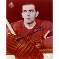 Montreal Canadiens Maurice Rocket Richard Signed 8 x 10 Photo Red Jersey