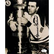 Montreal Canadiens Maurice Rocket Richard Signed 8 x 10 Photo with Stanley Cup Signed in Black