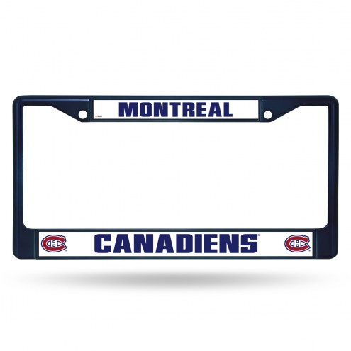 Montreal Canadiens Navy Colored Chrome License Plate Frame