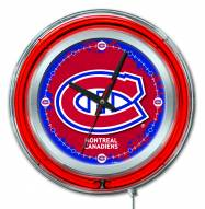 Montreal Canadiens Neon Clock