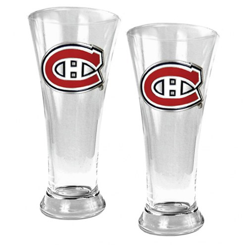Montreal Canadiens NHL 2-Piece Pilsner Glass Set