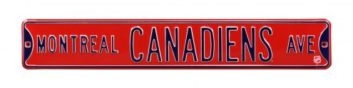 Montreal Canadiens NHL Authentic Street Sign