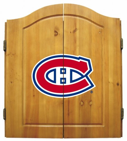 Montreal Canadiens NHL Complete Dart Board Cabinet Set