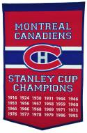 Montreal Canadiens NHL Dynasty Banner