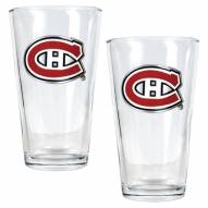 Montreal Canadiens NHL Pint Glass - Set of 2