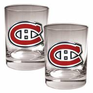 Montreal Canadiens NHL Rocks Glass - Set of 2