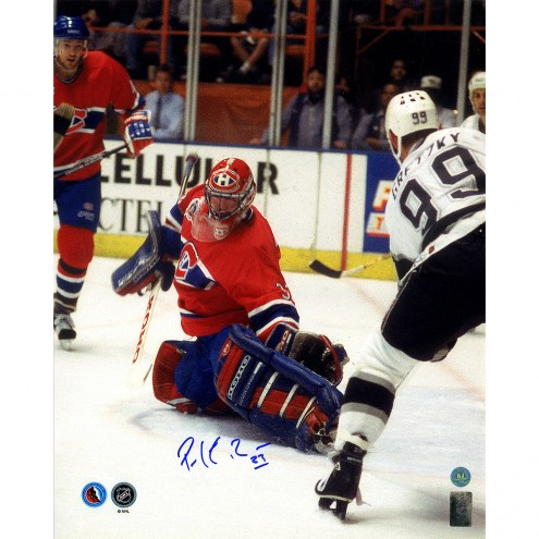 "Montreal Canadiens Patrick Roy Finals Save vs Gretzky Signed 16"" x 20"" Photo"